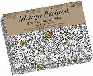 Image Is Loading Johanna Basford 2018 Coloring Day To Calendar
