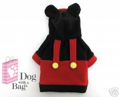 Disney Mickey Mouse Halloween Yorkie Chihuahua Dog Fleece Coat X-Small XS
