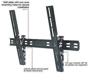 TC - 32-63in Ultra Slim TV Wall Mount - Tilt -12 to 0 degrees -