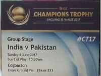 Ind vs Pak ICC Champions Trophy - 4 Silver Adult Tickets at £700 or 195 each