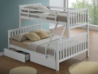 *RRP £400* New Triple Sleeper Bunk Bed - White - Still Boxed