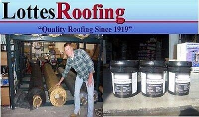 10 X 30 White 60 Mil Epdm Rubber Roof Kit Wadhesive 4 X 25 Tape 3 Caulk