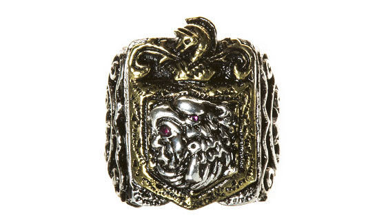 Massive Mexican Maya Vintage 1930s,40s,50s Style Novelty Biker Ring SWS London