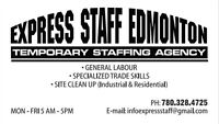 ExpressStaffing.ca Call us today for all your Staffing Needs.