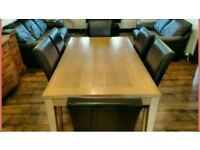 Dining Table and 6 Chairs - Faux Leather Chairs