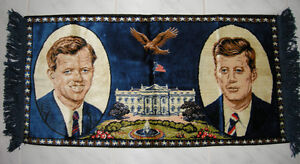 VINTAGE 60'S KENNEDY BROTHERS WALL TAPESTRY