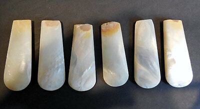 6 Antique MOTHER OF PEARL (MOP) HANDLES  For REPAIR  - STEAMPUNK