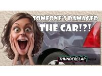 Someone's damaged the car!?! We could fix it!