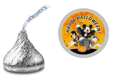 108 MICKEY MOUSE HALLOWEEN HERSHEY KISS LABELS STICKERS BIRTHDAY PARTY FAVORS