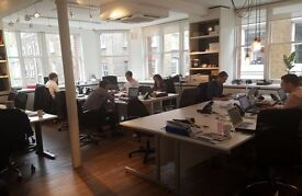 Min. 3 desks - open plan office, soho.