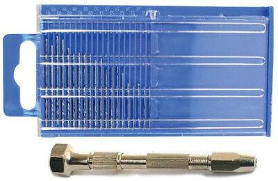 New Set 21pc Micro Index Drill Bit Set #61-80 + Swivel Head