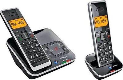 BT XENON 1500 TWIN DIGITAL CORDLESS TELEPHONE + ANSWER PHONE & CALLER ID