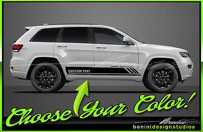 Rocker Side Stripe Decal Graphics Body Kit Jeep Grand Cherokee Universal