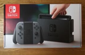 Nintendo Switch Grey plus 3 Games, Accessories & 128GB Micro SD