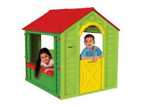 plastic garden playhouse, can deliver