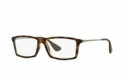 Ray Ban RX7021 5365 55MM Matthew Quadratisch Rezept Brille Schildplatt Havana