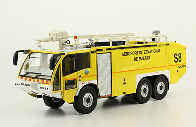 """Fire Truck SIDES S3X """"AEROPORT INTERNATIONAL DE MALABO"""" 1/43  diecast model, used for sale  Shipping to United States"""