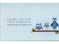 Over 500 BRAND NEW thank you for your purchase business cards