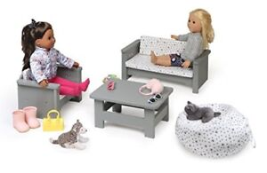 Brand New 18 inch doll living room, couch American girl doll