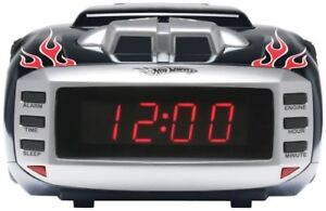 Emerson Radio Hot Wheels HW800 Snore Slammer Alarm Clock Radio