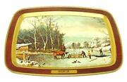 Currier and Ives Tray