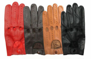 Genuine Leather Men's Unlined Driving Costume Cosplay Gloves