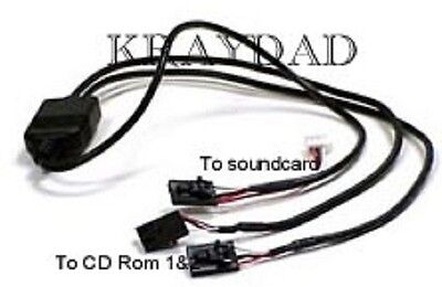 - Dual CDrom DVD Audio Connector Connect 2 Drives to One Soundcard Input