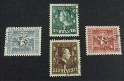 nystamps Liechtenstein Stamp # 215//222 Used $98   L23y622