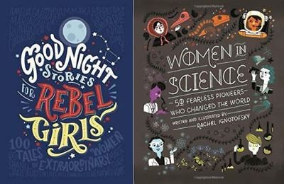 Good Night Stories for Rebel Girls & Women In Science (2 Book Set, Hardcover)