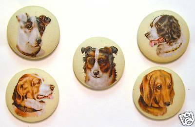 Dog Button Set of 5 Different Images *Special Price*  FREE US SHIPPING