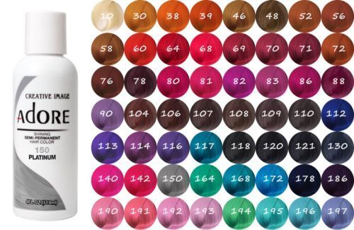 Adore by Creative Image Semi Permanent Hair Dye Color 118mL Pick Your Color