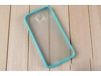 Blue Clear Hard Back Silicone TPU Bumper Case Cover For Samsung Galaxy S6