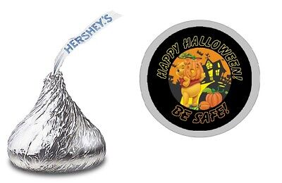 WINNIE THE POOH HALLOWEEN HERSHEY KISS LABELS STICKERS BIRTHDAY PARTY FAVORS ()