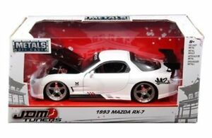 1993 Mazda RX-7 White JDM Tuners 1/24 Diecast Model Car for sell