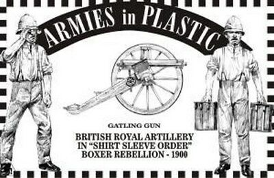 Armies in Plastic - Gatling Gun Royal Artillery Shirt Sleeve Boxer 54mm 1/32