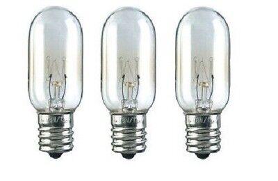 KitchenAid Compatible Refrigerator 40 Watt Light Bulb T8 - 3 Pack - NEW