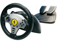 Thrustmaster Ferrari black edition wheel for PlayStation 2