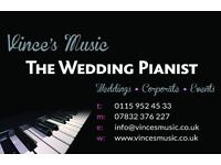 Wedding Pianist Musician available for your wedding. Book now to secure wedding date.