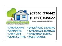 landscaping - gardening - grass cutting - driveway cleaning - junk removal and other services