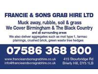 Grab hire francie&sons muck away aggregates tipper