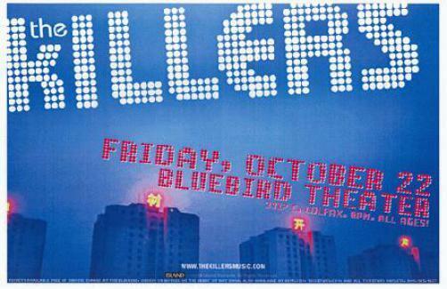 THE KILLERS DENVER 2004 CONCERT POSTER BLUEBIRD