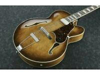 Ibanez AF71 hollow body archtop guitar pickup and bridge upgrade plus hardcase TRADE SELL