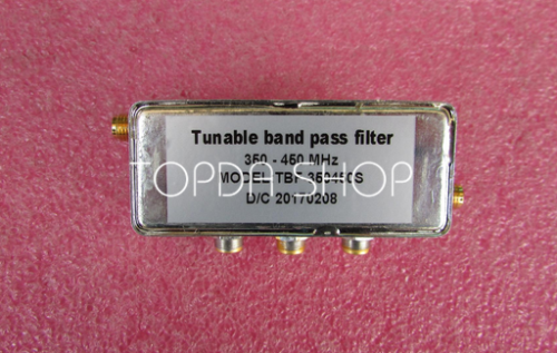TBF-350450S 350-450MHz SMA RF coaxial adjustable bandpass filter