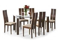NEW Julian Bowen Cayman Dining Table & 6 Chairs **CAN DELIVER**
