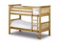 Barcelona Bunk Bed with 2 Single Mattresses BRAND NEW