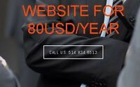 Need WebSite? 100$/Year udesignwehost.ca