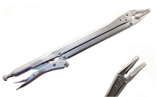PINZA AUTOBLOCCANTE A SCATTO REGOLABILE A VITE EXTRA LUNGA 370 mm IN ACCIAIO FOR