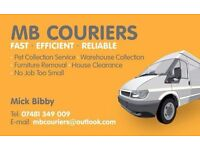 M.B Couriers. All kinds of removals and deliverys undertaken. No job to big no job to small.
