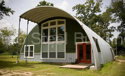 Durospan Steel 40x32x20 Metal Quonset Diy Home Building Kit Open Ends Direct