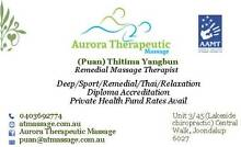 Aurora Therapeutic Massage Joondalup Joondalup Area Preview